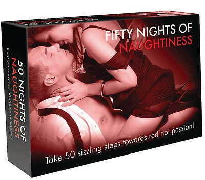 FIFTY NIGHTS OF NAUGHTINESS GAME Adults Only Sex Aid 50 SHADES OF FUN ADULT