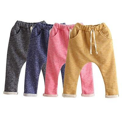 Cute Toddler Kids Boys Casual Harem Pants Trousers Cotton Bottoms Outfits 2-6Y