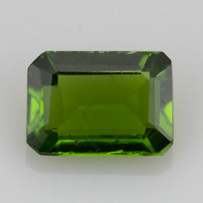 0.80 ct Chrome Diopside Emerald cut 6.85x4.77mm Si1 Natural loose green gem