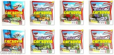 CARS Pit Race-Off Set Launchers + Racer, Launch & Race Autos Mattel Disney Pixar