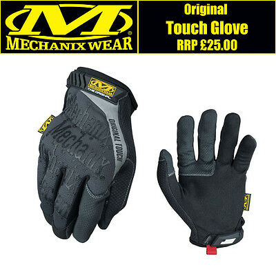 Genuine Mechanix Original Touch Screen Glove in Grey - Free UK Delivery