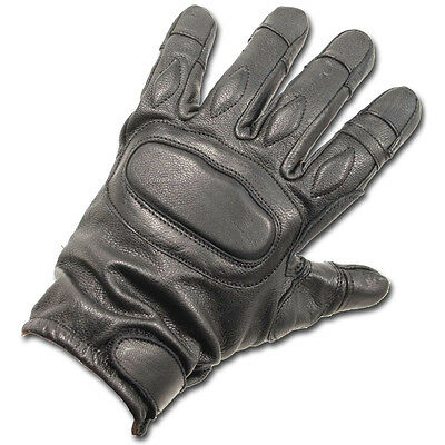 Tactical Padded Security Kevlar Anti Slash Leather Gloves Black Combat Sia