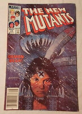 1984 - THE NEW MUTANTS #18 - DEMON BEAR !! - 1st Warlock - Marvel Comic Book