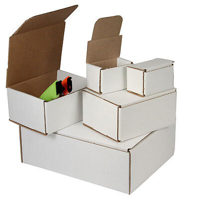 50 -9 x 6 x 3 White Corrugated Shipping Mailer Packing Box Boxes