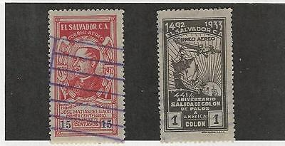 Salvador, Postage Stamp, #C24, C32 Used, 1932-1933