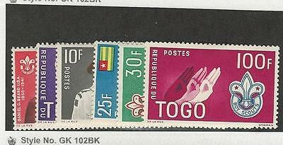 Togo, Postage Stamp, #401-406 Mint Hinged, 1961 Scouting