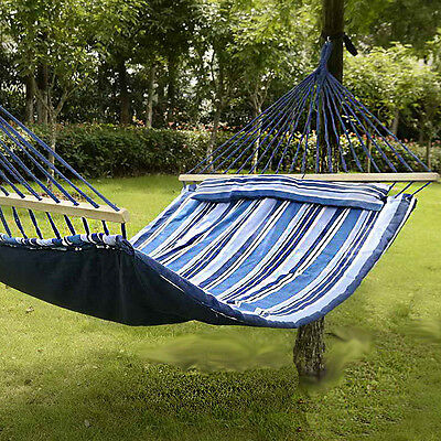 Outdoor Garden Back Yard Travel Camping Hammock Hang Bed Portable Two Person