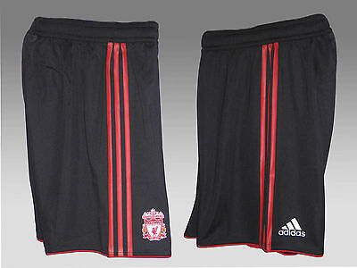"""New Adidas LIVERPOOL Football Shorts Player Issue Clima Cool Black 42"""""""