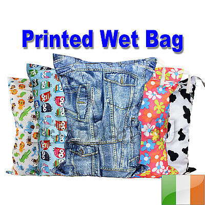 Washable Reusable Cloth Nappy Wet Bag / Waterproof Swim Sport Travel Carry bag