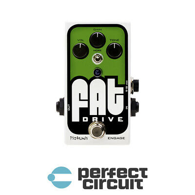PIGTRONIX FAT DRIVE Overdrive Guitar Pedal EFFECTS - NEW - PERFECT CIRCUIT