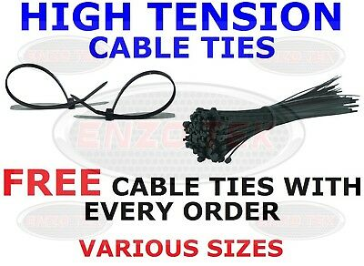 Strong Black Cable Ties Tie Wraps Zip Ties Various Sizes Free Ties On All Orders