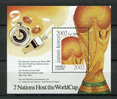 s7484) SIERRA LEONE 2001 MNH** WC Football'02 - CM Calcio S/S