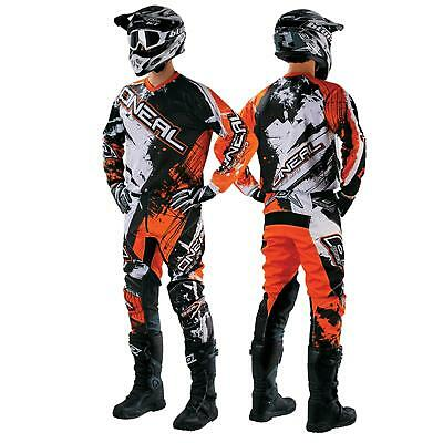O'Neal Element Shocker Orange Combo Set MX DH Moto Cross Hose Jersey Handschuhe