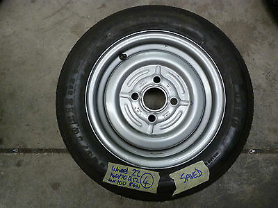 140/70R12 4x100 86N Wheel and Tyre