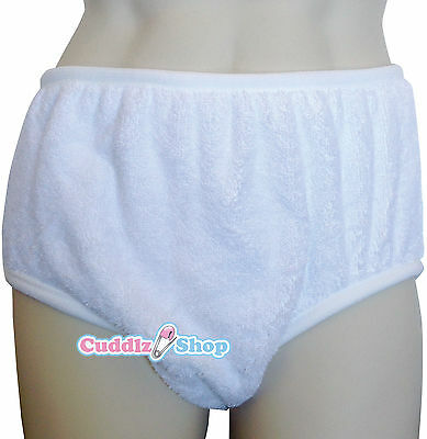 Double Thickness Terry Towelling Adult Incontinence Brief Pant Cloth DiaperABDL