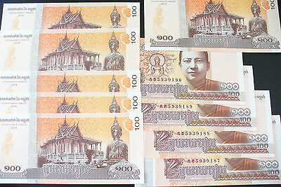 SUPERBE  BILLETS - 100 CAMBODGE   2014 -  UNC/NEUF !(achat unitaire)