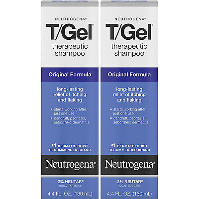 2 Pack - Neutrogena T/Gel Therapeutic Shampoo Original Formula 4.40oz Each