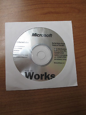 Microsoft Works 7 With Certificate Of Authenticity