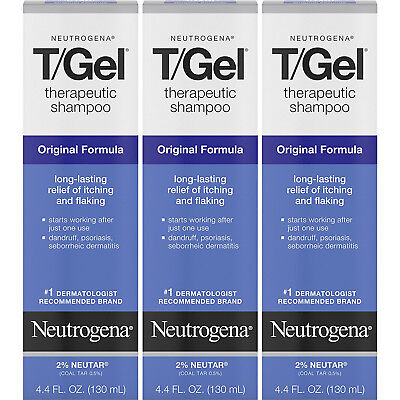 3 Pack - Neutrogena T/Gel Therapeutic Shampoo Original Formula 4.40oz Each