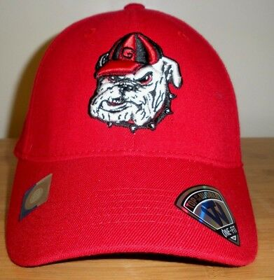 875b216b9bd NEW YOUTH RED GRAY Georgia Bulldogs Dawgs Top of the World Snap Back ...