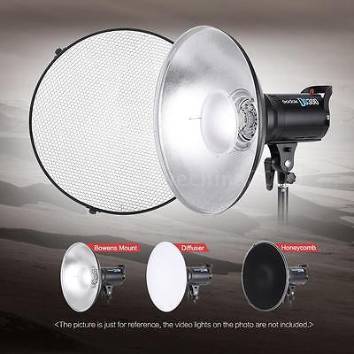 Strobe Light Collapsible Grid Beauty Dish Video Light Reflector Bowens Mount K6V