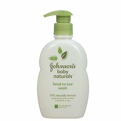 Johnson's Natural Head-to-Toe Foaming Baby Wash 9 fl oz (266 ml) Each