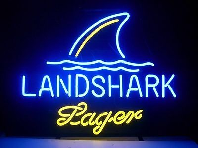 Landshark Lager Grill Jimmy Buffetts Neon Sign 17''X14'' P9 ship from USA