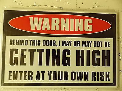 warning getting high tin metal sign MAN CAVE brand new