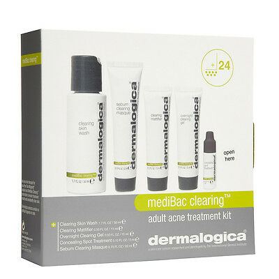 Dermalogica MediBac Clearing Adult Acne Breakout Treatment Products Kit NEW