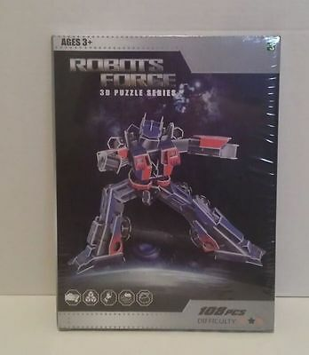 Transformers Robots Force 3D Puzzle 108pc Optimus Prime Knockoff New!