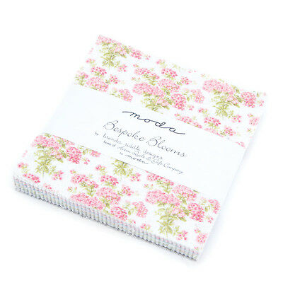 Patchwork/quilting Fabric Moda Charm Squares/packs - Bespoke Blooms