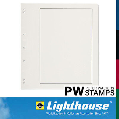 Lighthouse Blank Album Pages with Black Borderline Pack of 40 Sheets