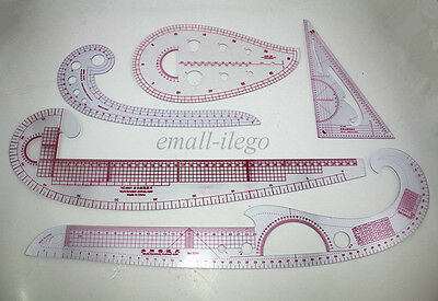Clear Sew French Curve Metric Ruler Measure for Sewing Dressmaking Taylor