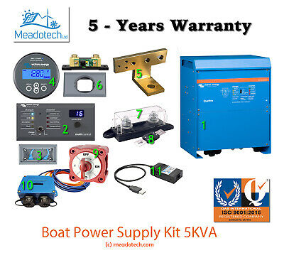 VICTRON ENERGY 5KVA - 12V BOAT POWER SUPPLY KIT 2 AC Inputs FREE EU Delivery