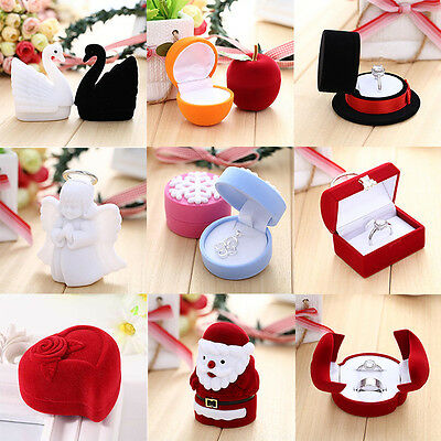 Earring Ring Jewelry Display Box Case Storage Organizer Hat Engagement