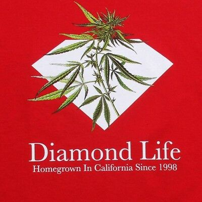 $40 Diamond Supply Co Homegrown WEED Tee (red)