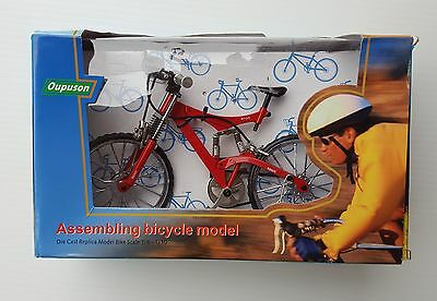 Oupuson Die Cast Mini Assembly Bike Bicycle Replica Model Toy - Red