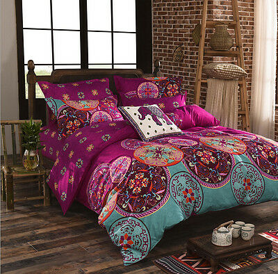 Bohemian Mandala Duvet Cover with Pillow Case Quilt Cover Bedding Set