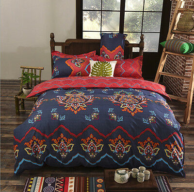 Royal Bedding Bohemian Duvet Cover with Pillow Case Quilt Cover Bedding Set