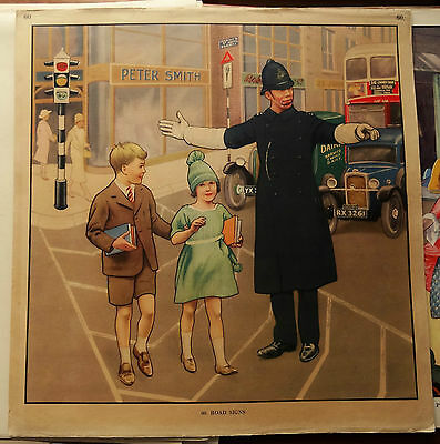 Lot of 44 Vintage Macmillan School Posters (inc Paterson, Brock, Sheppard etc)