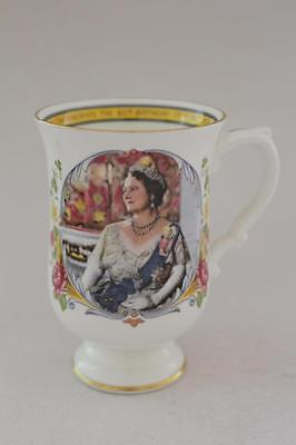 Crown Staffordshire Late Queen Mother 80th Birthday Mug