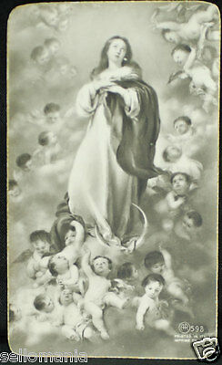 Old Blessed Virgin Immaculate Conception Holy Card Andachtsbild Santini    Cc867