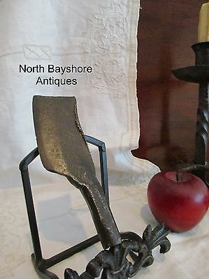 Antique 1700s New England Colonial Blacksmith Wrought Iron Herb Chopper aafa
