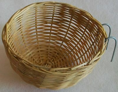 """Vip Bamboo Finch Canary Parakeet Nest 6"""" Covered, 3.5"""" Open, Millet Styles New"""