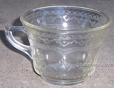 Vintage Patrician Spoke Pattern Federal Glass Amber Color Punch Cup