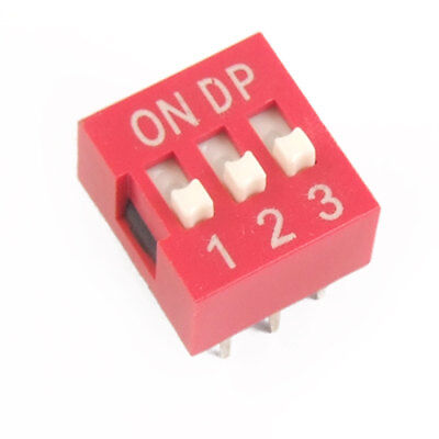 Electronic Component 3 Ways Slide Type DIP Switch New