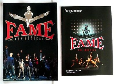 Fame - The Musical - Cambridge  Theatre - Brochure & Programme