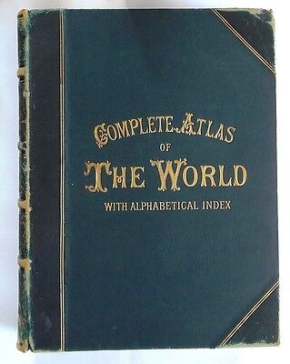 NEW COMPLETE ATLAS OF THE WORLD - 124 Colour Maps by George W. Bacon (c.1890's)