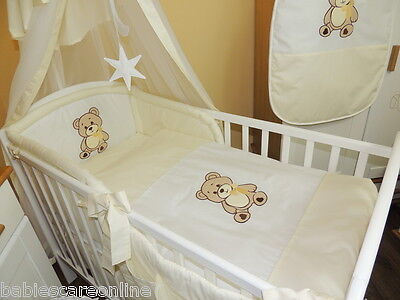 STUNNING 3 pcs  BABY BEDDING SET/BUMPER  fit cot or cot bed