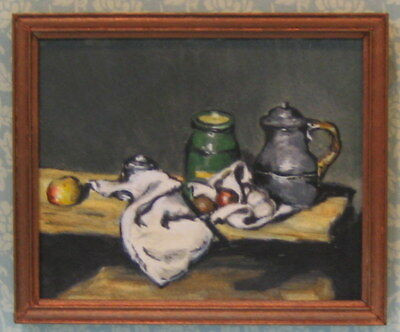 """Cezanne- Hand painted """"original"""" old masters painting in miniature."""